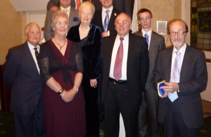 Branch members with guest Rupert Matthews at the Woodlands Hotel